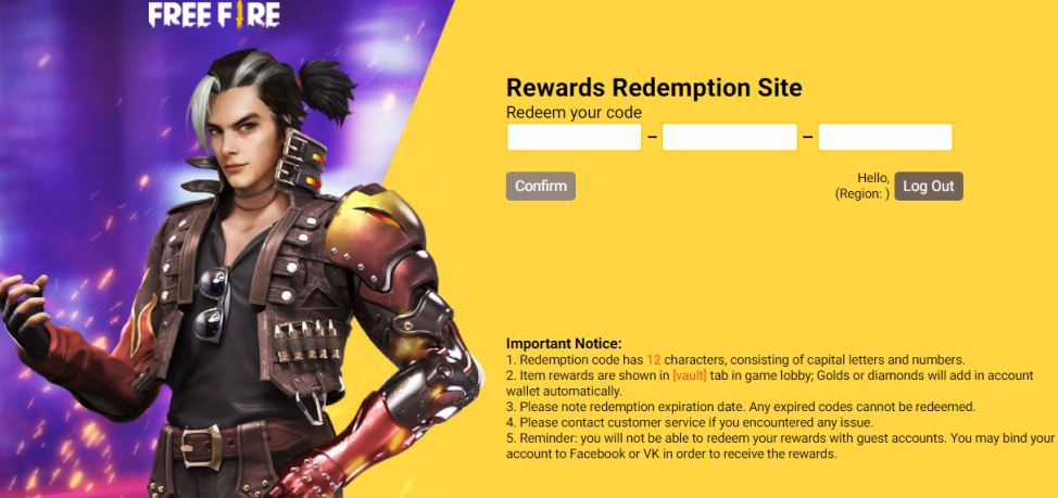List of Free Fire redeem codes for Indian server that came out this week