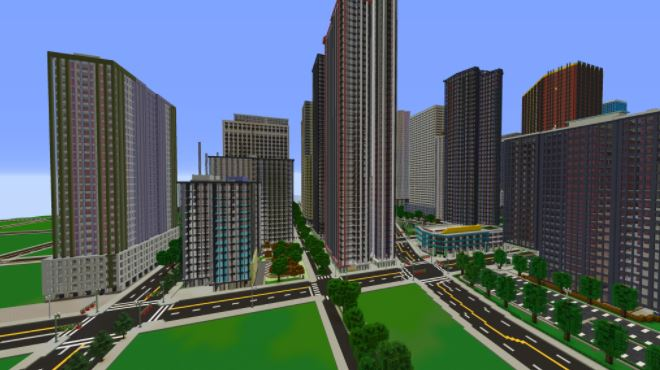 How to build a city in Minecraft.