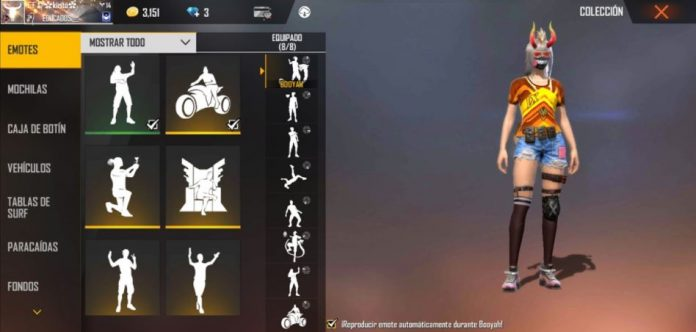 Tips to get free emotes in free fire