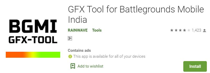 Best GFX Tool for BGMI : GFX for Battlegrounds Mobile India mod apk download