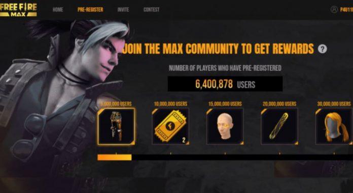 Free Fire Max Pre registration rewards