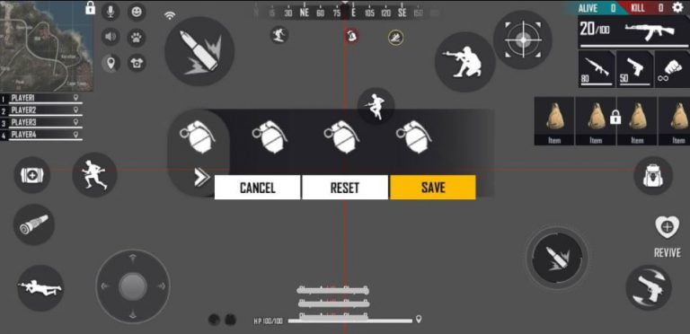 four finger claw free fire